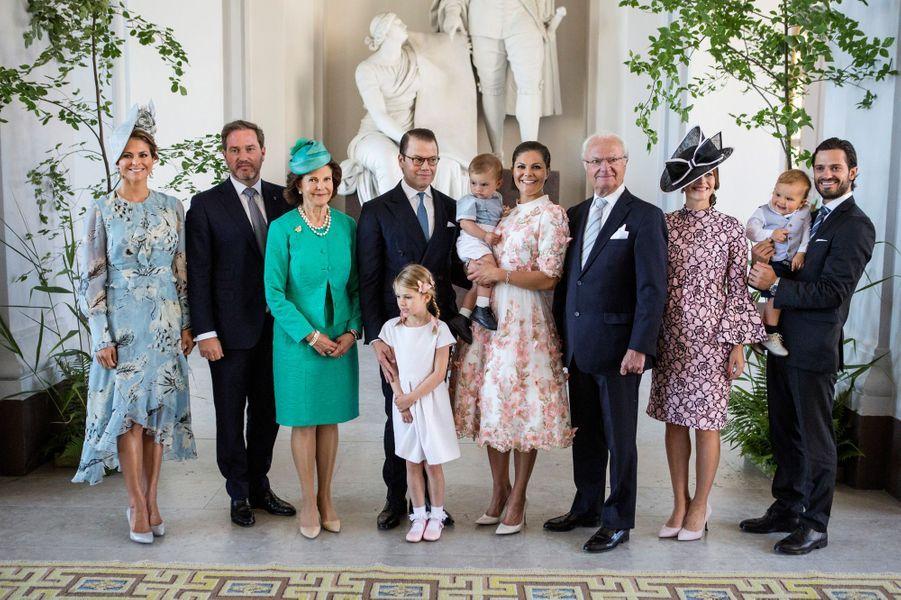 Photo de familleaux 40 ans de la princesse Victoria, le 14 juillet 2017.