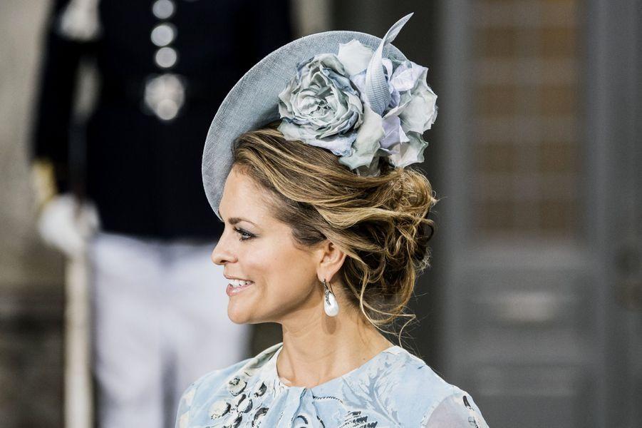 La princesse Madeleine aux40 ans de la princesse Victoria, le 14 juillet 2017.