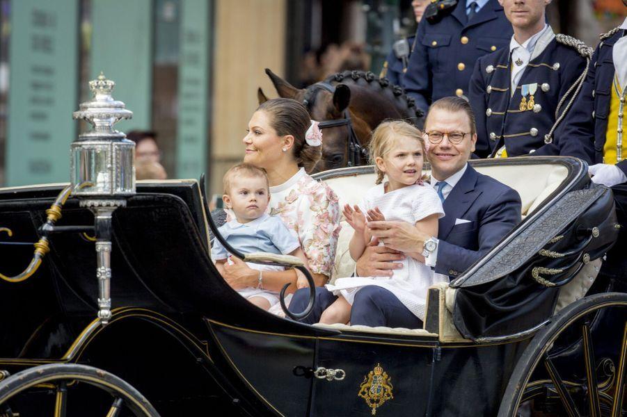 La princesse Victoria et son mari Danielaux 40 ans de la princesse Victoria, le 14 juillet 2017.