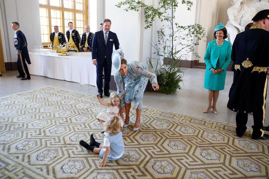 La princesse Madeleine et la princesse Leonoreaux 40 ans de la princesse Victoria, le 14 juillet 2017.