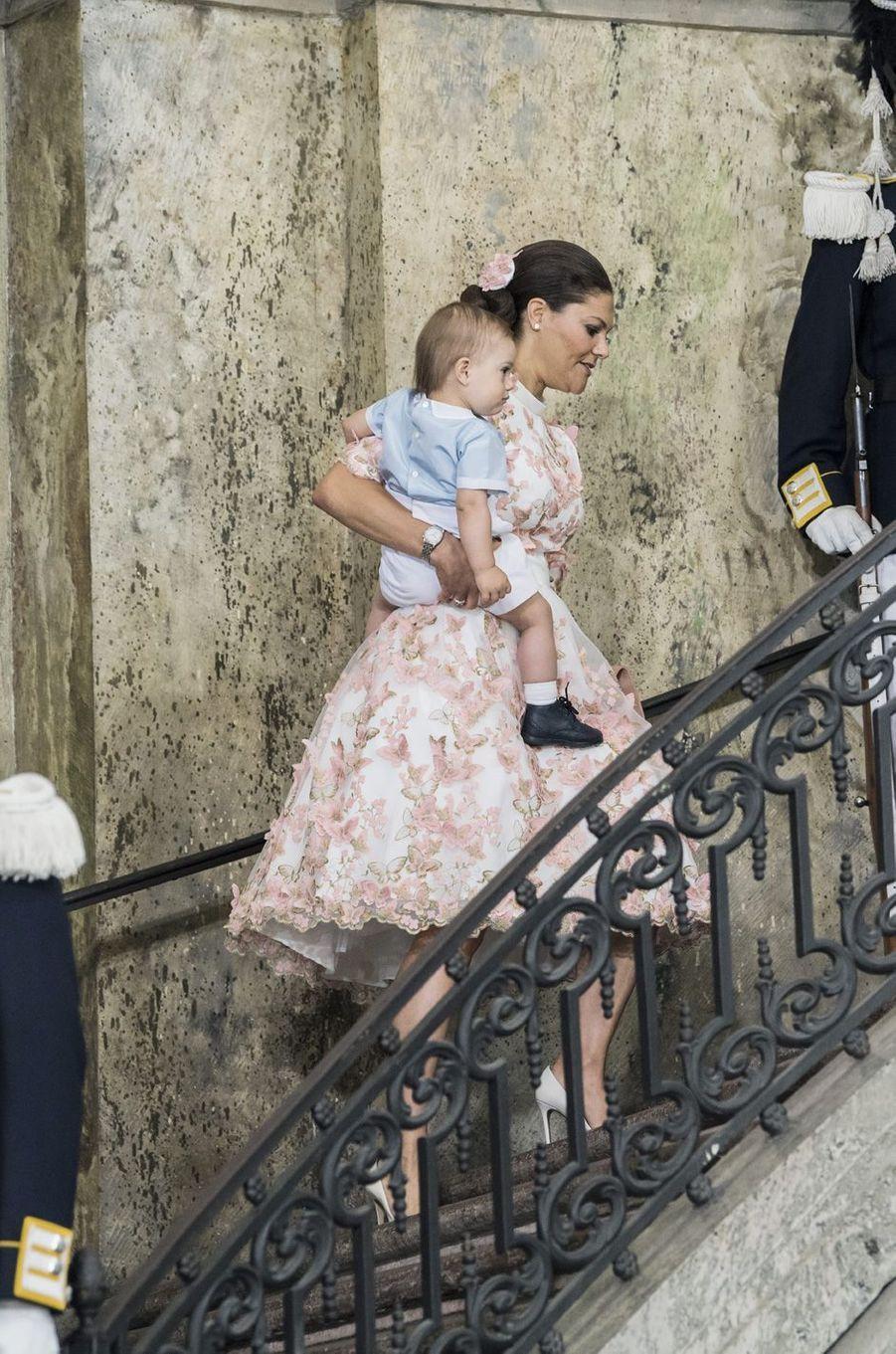 La princesse Victoria et le prince Oscar aux 40 ans de la princesse Victoria, le 14 juillet 2017.