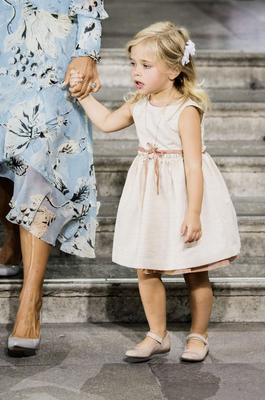 La princesse Leonore aux 40 ans de la princesse Victoria, le 14 juillet 2017.