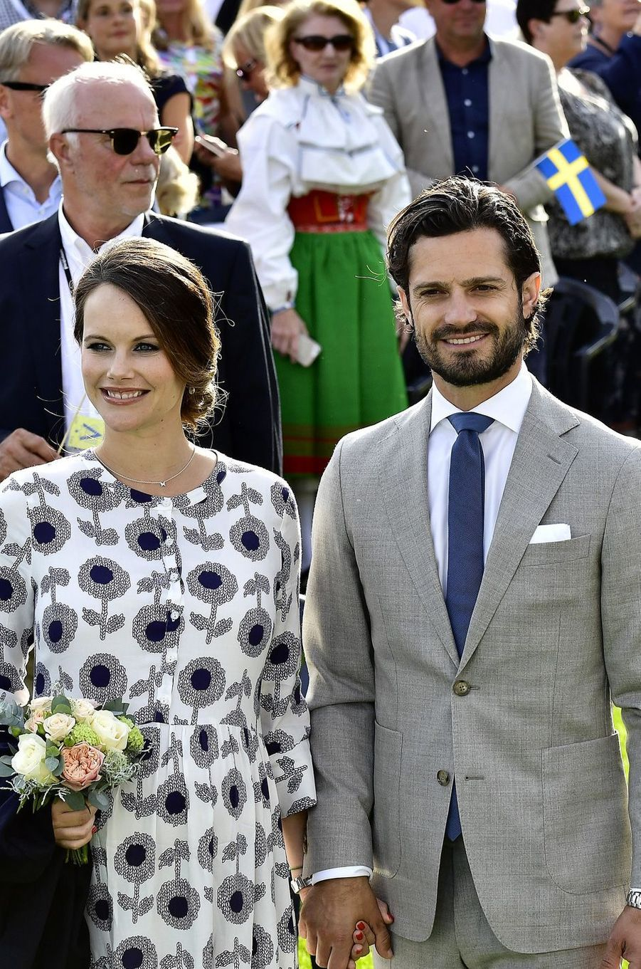 La princesse Sofia et le prince Carl Philipaux 40 ans de la princesse Victoria, le 14 juillet 2017.