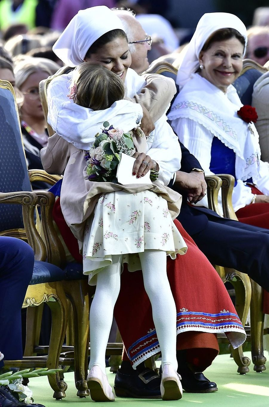 La princesse Victoria et la princesse Estelleaux 40 ans de la princesse Victoria, le 14 juillet 2017.