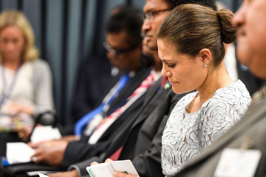 La princesse Victoria de Suède à l'ONU à New York, le 19 septembre 2016