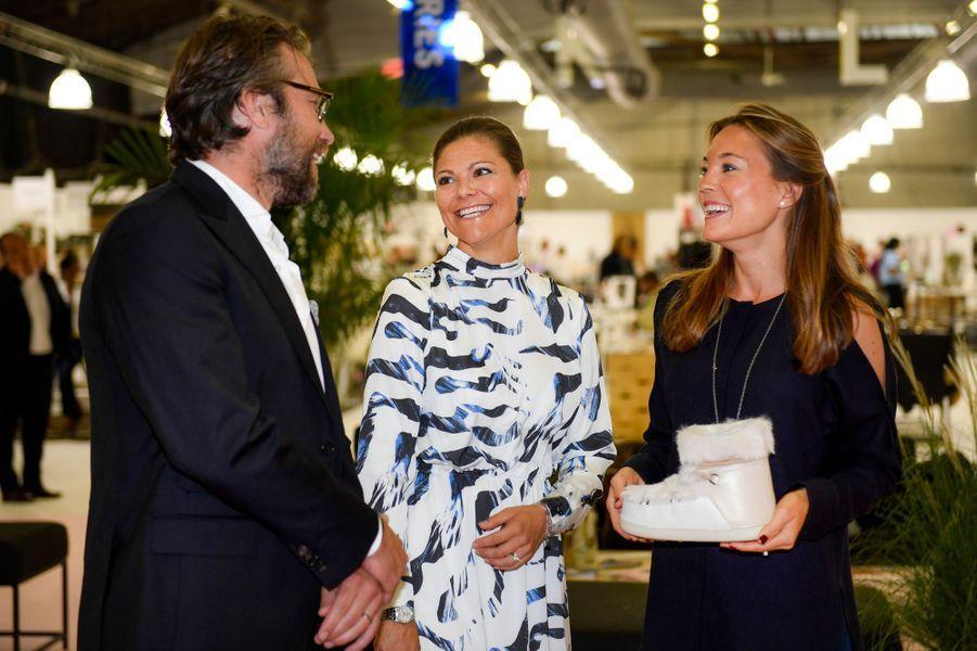 La princesse Victoria de Suède à New York, le 19 septembre 2016