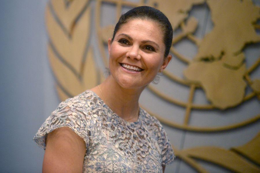 La princesse Victoria de Suède aux Nations unies à New York, le 8 juin 2017