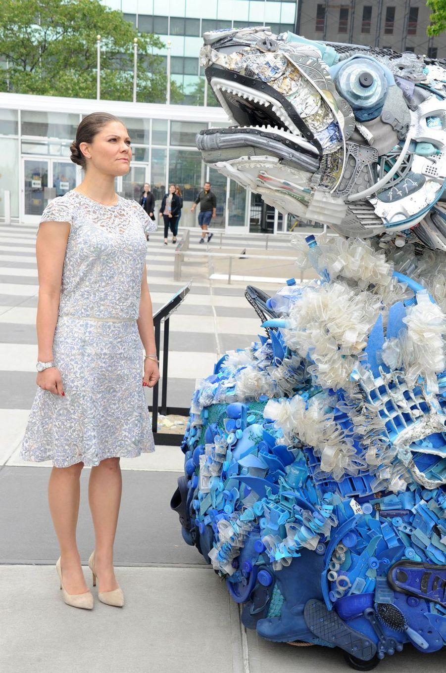 La princesse Victoria de Suède à New York pour le Conférence de l'ONU sur les océans, le 8 juin 2017