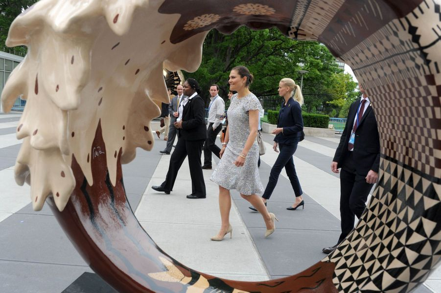 La princesse Victoria de Suède à New York, le 8 juin 2017