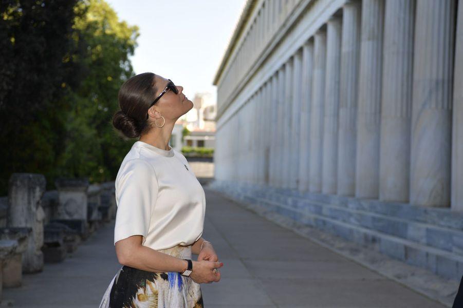 La princesse Victoria de Suède à Athènes, le 2 mai 2019
