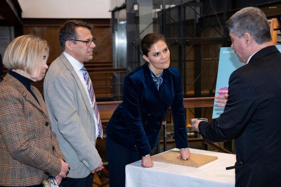 La princesse Victoria de Suède, le 16 janvier 2019 à Helsingborg