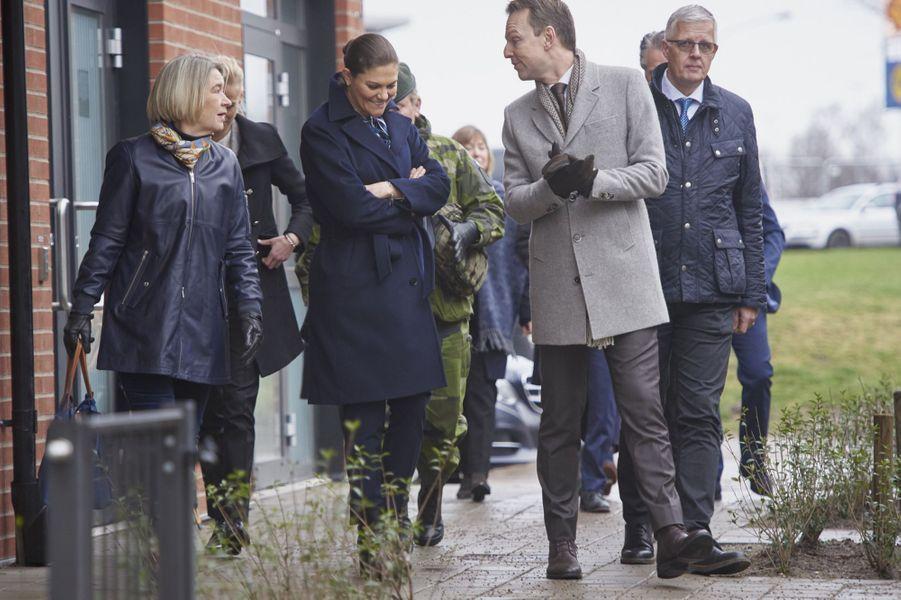 La princesse Victoria de Suède en visite à Helsingborg, le 16 janvier 2019