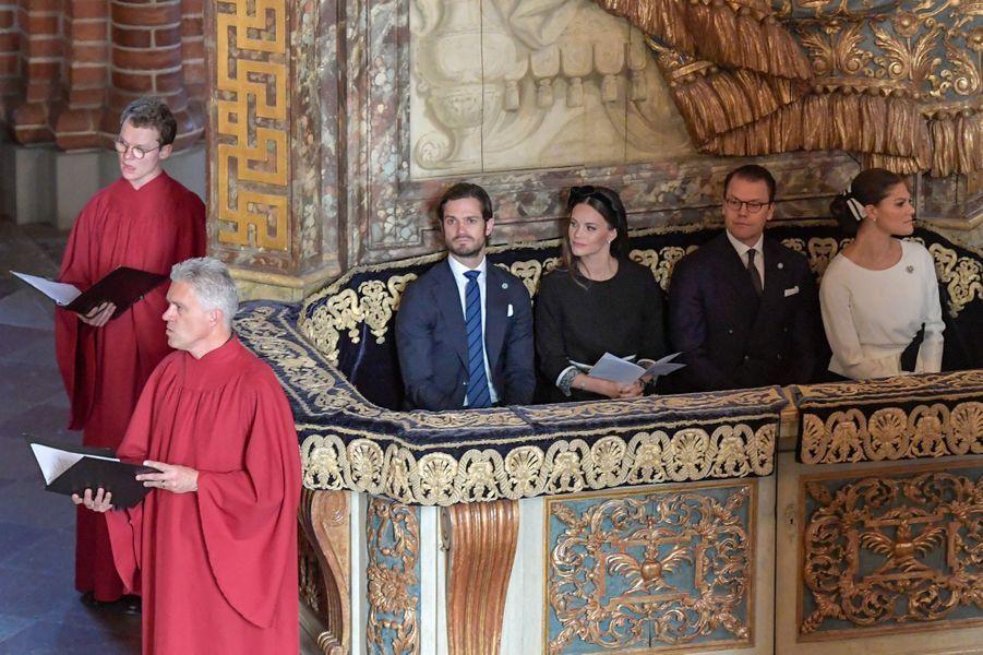 Les princesses Sofia et Victoria de Suède et les princes Carl Philip et Daniel à Stockholm, le 25 septembre 2018