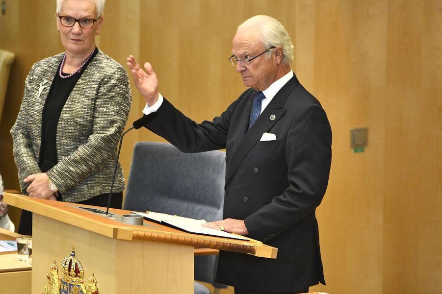 Le roi Carl XVI Gustaf de Suède à Stockholm, le 25 septembre 2018