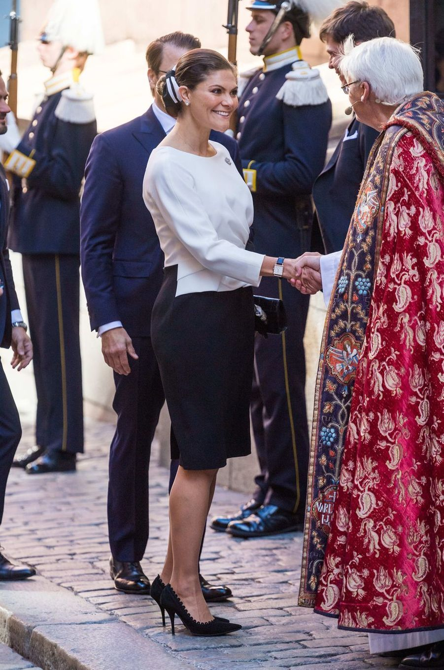 La princesse Victoria de Suède et le prince Daniel à Stockholm, le 25 septembre 2018
