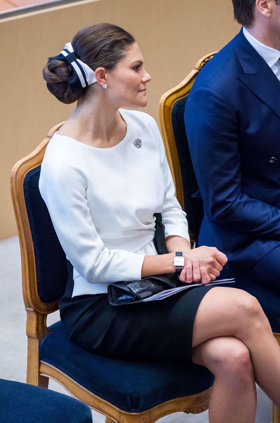 La princesse Victoria de Suède à Stockholm, le 25 septembre 2018
