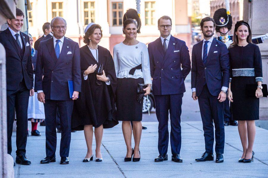 La famille royale de Suède à Stockholm, le 25 septembre 2018