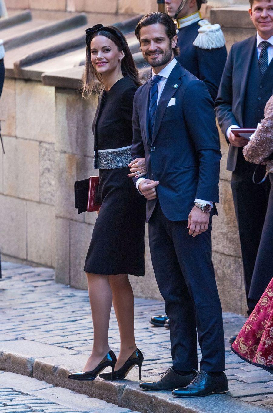 La princesse Sofia et le prince Carl Philip de Suède à Stockholm, le 25 septembre 2018