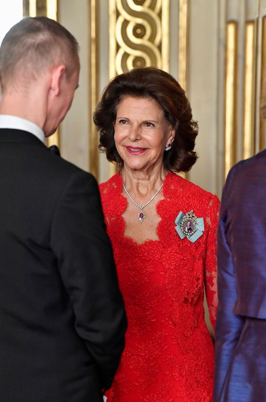 La reine Silvia de Suède à Stockholm, le 14 mars 2019