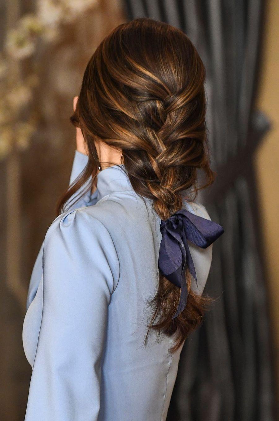 La coiffure de la princesse Sofia de Suède à Stockholm, le 14 mars 2019