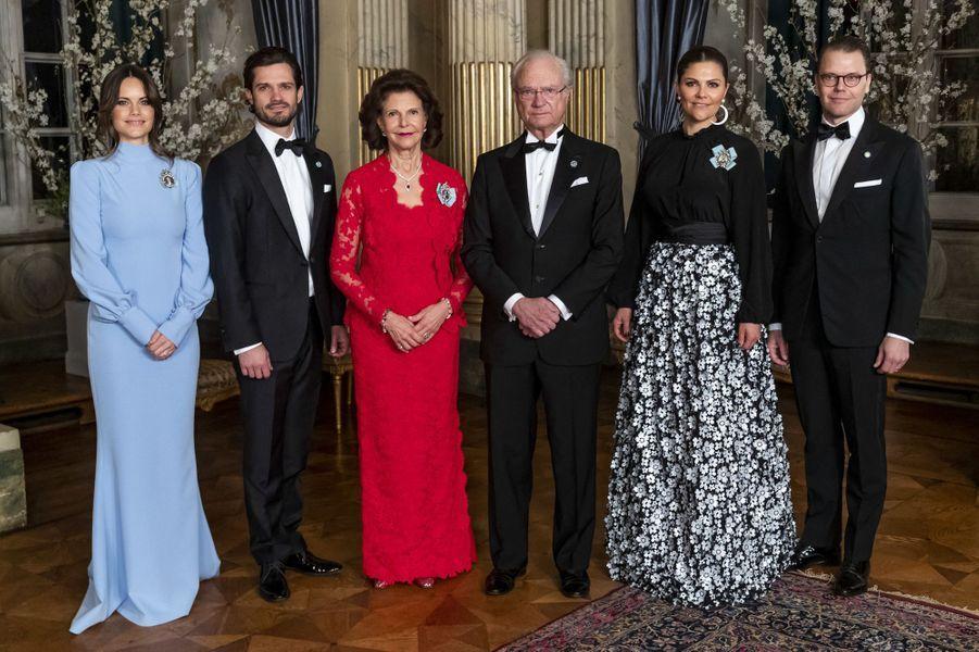 La famille royale de Suède à Stockholm, le 14 mars 2019