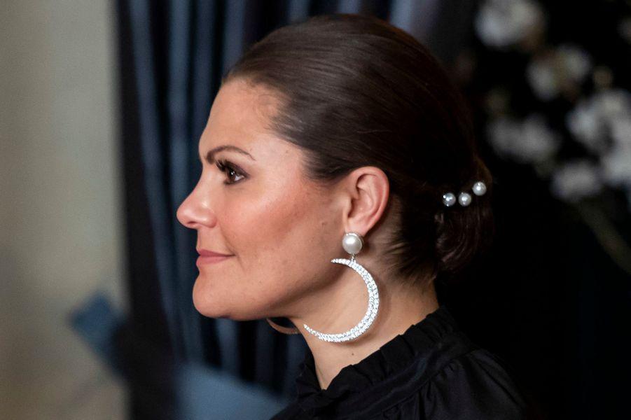 La princesse Victoria de Suède à Stockholm, le 14 mars 2019