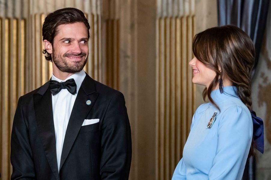 La princesse Sofia et le prince Carl Philip de Suède à Stockholm, le 14 mars 2019