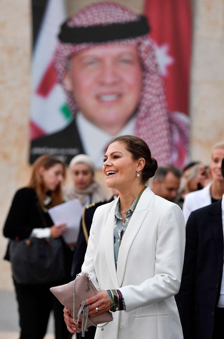 La princesse Victoria de Suède en Jordanie, le 15 octobre 2018