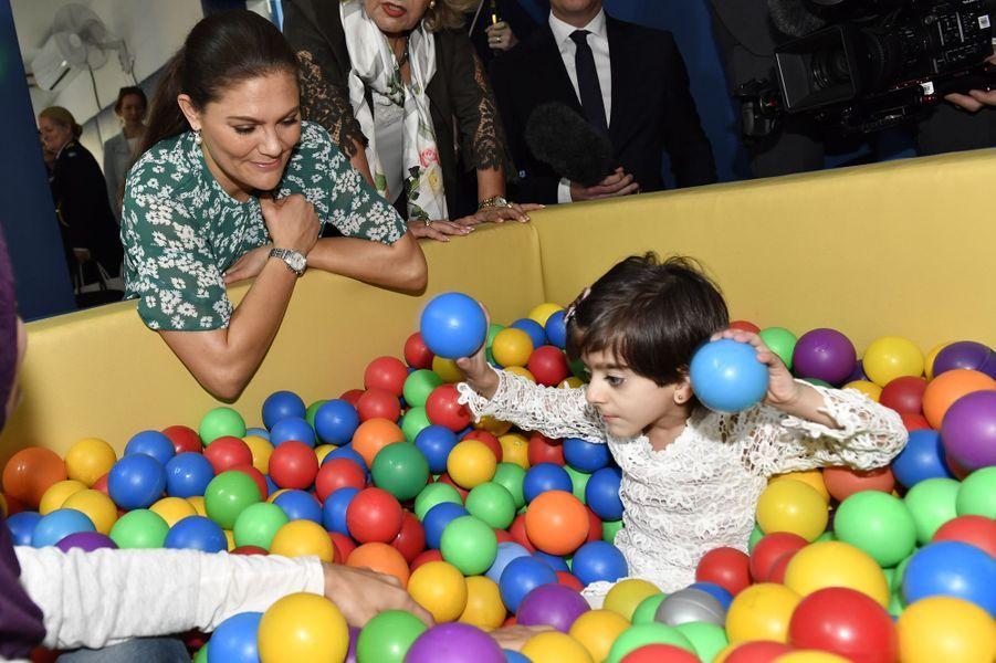 La princesse Victoria de Suède en Jordanie, le 17 octobre 2018