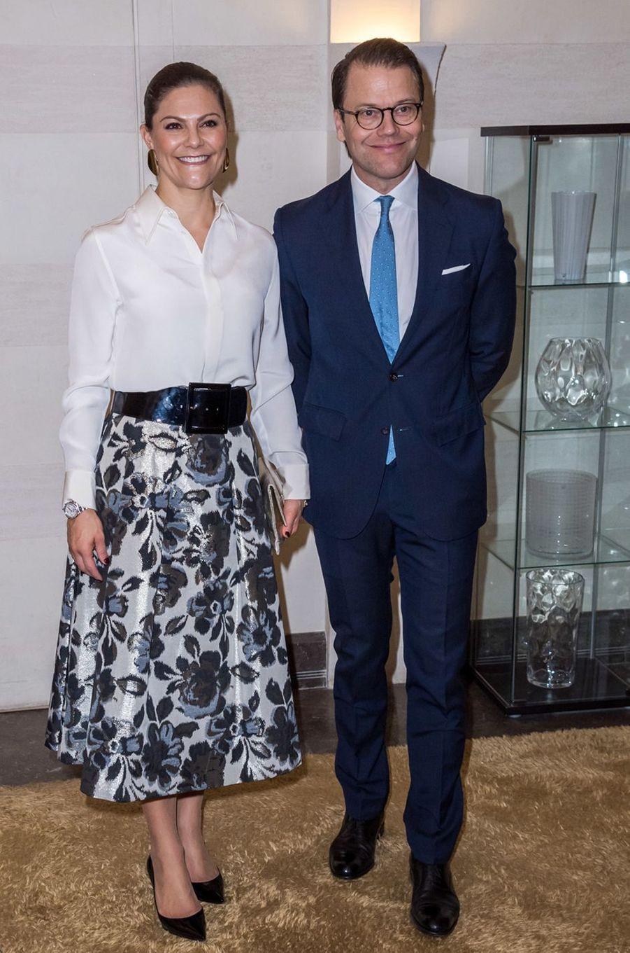 La princesse Victoria de Suède et le prince consort Daniel en Jordanie, le 15 octobre 2018