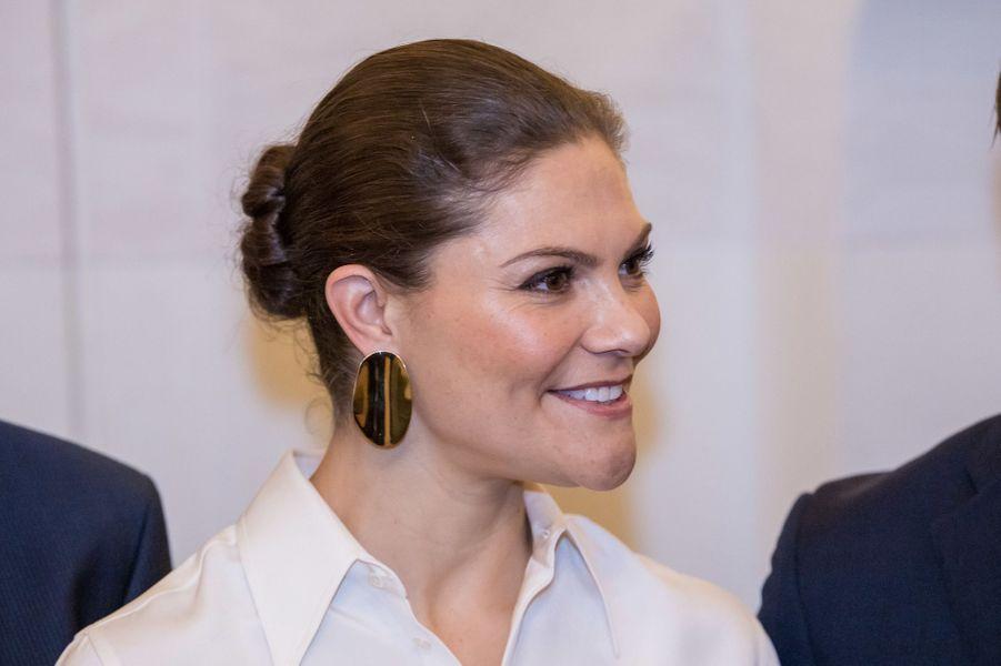 La princesse Victoria de Suède à Amman en Jordanie, le 15 octobre 2018