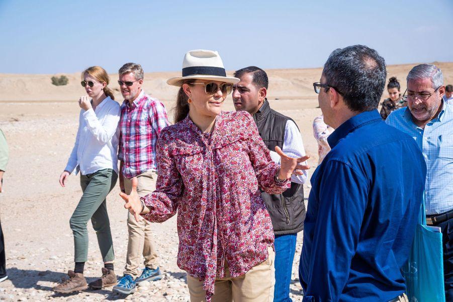 La princesse Victoria de Suède en Jordanie, le 16 octobre 2018