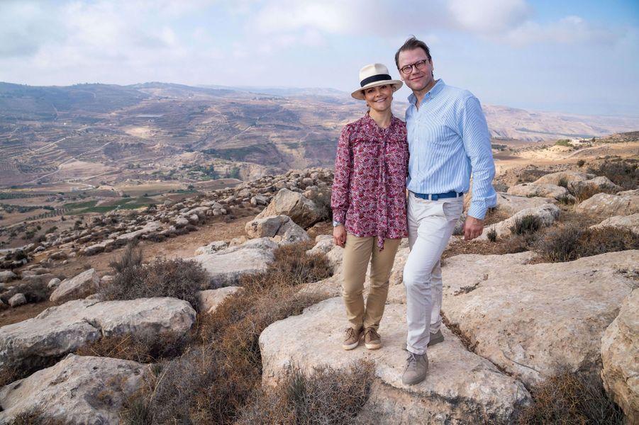 La princesse Victoria de Suède et le prince Daniel en Jordanie, le 16 octobre 2018