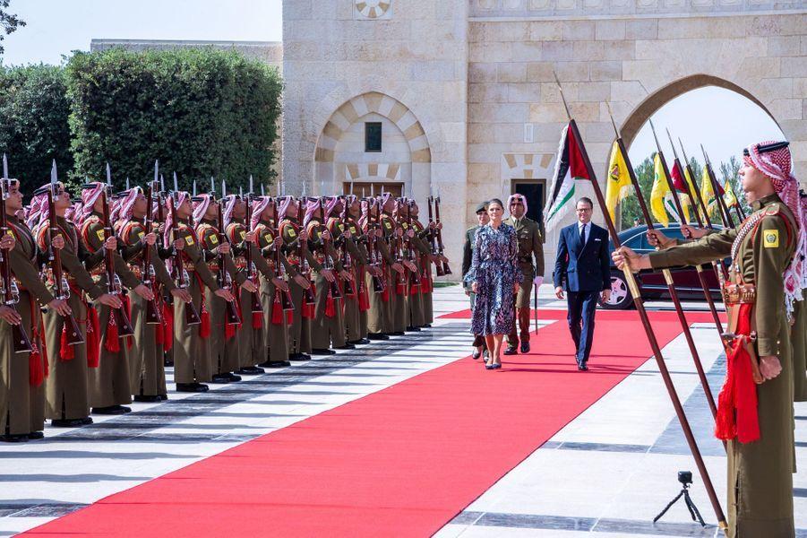 La princesse Victoria de Suède et le prince Daniel à Amman, le 17 octobre 2018