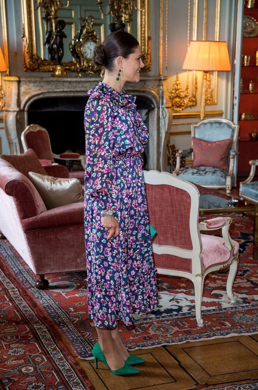 La princesse Victoria de Suède à Stockholm, le 17 avril 2018