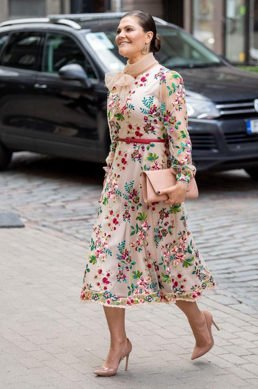 La princesse héritière Victoria de Suède à Riga, le 27 avril 2018