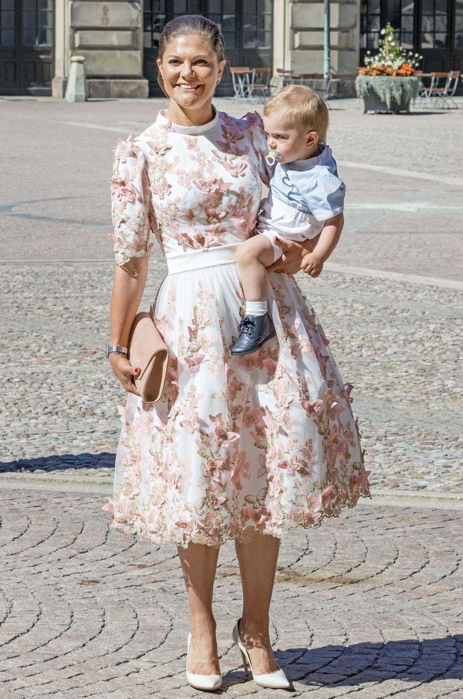 La princesse Victoria de Suède le 14 juillet 2017