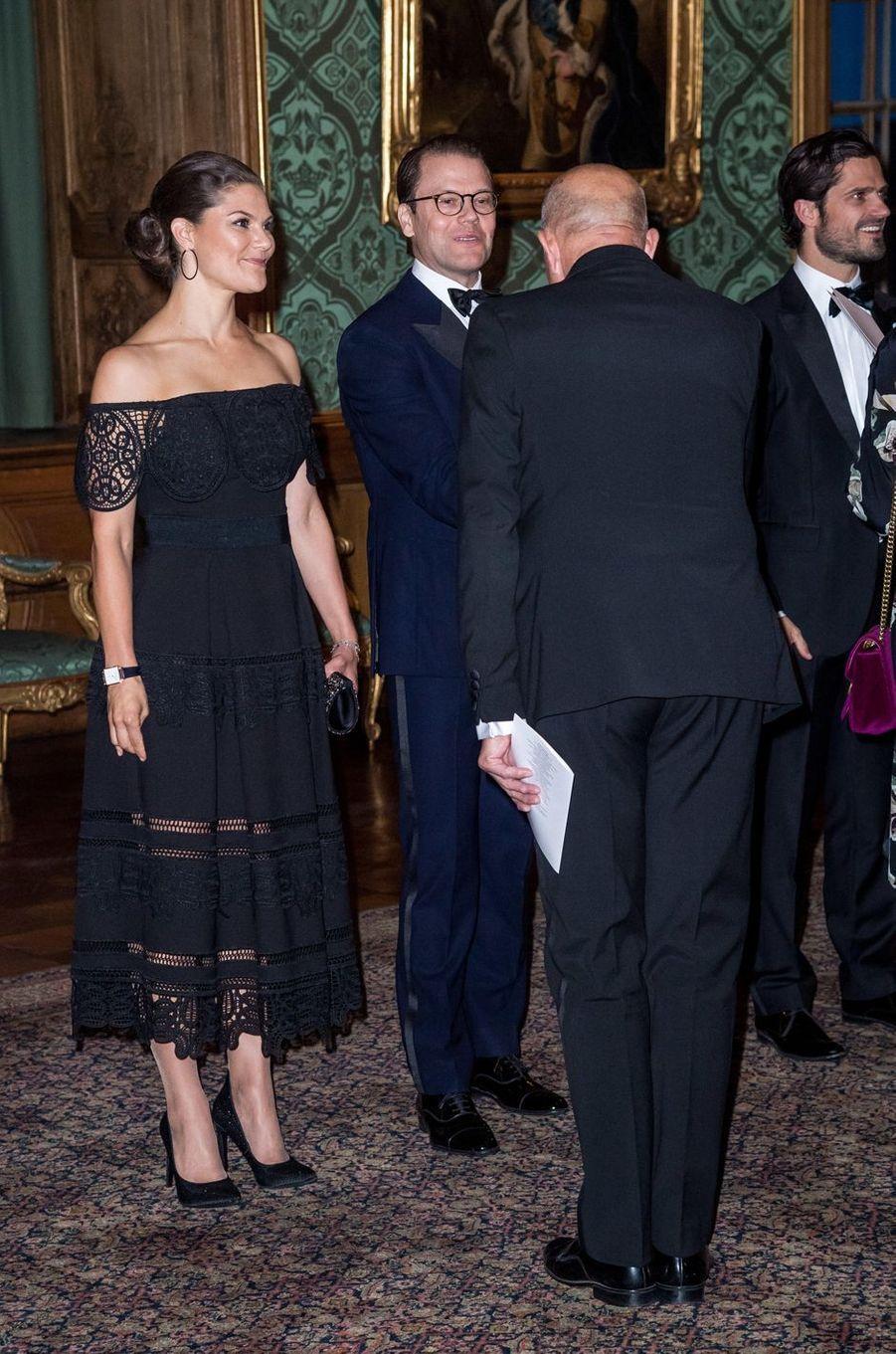 La princesse Victoria et les princes Daniel et Carl Philip de Suède à Stockholm, le 14 septembre 2018