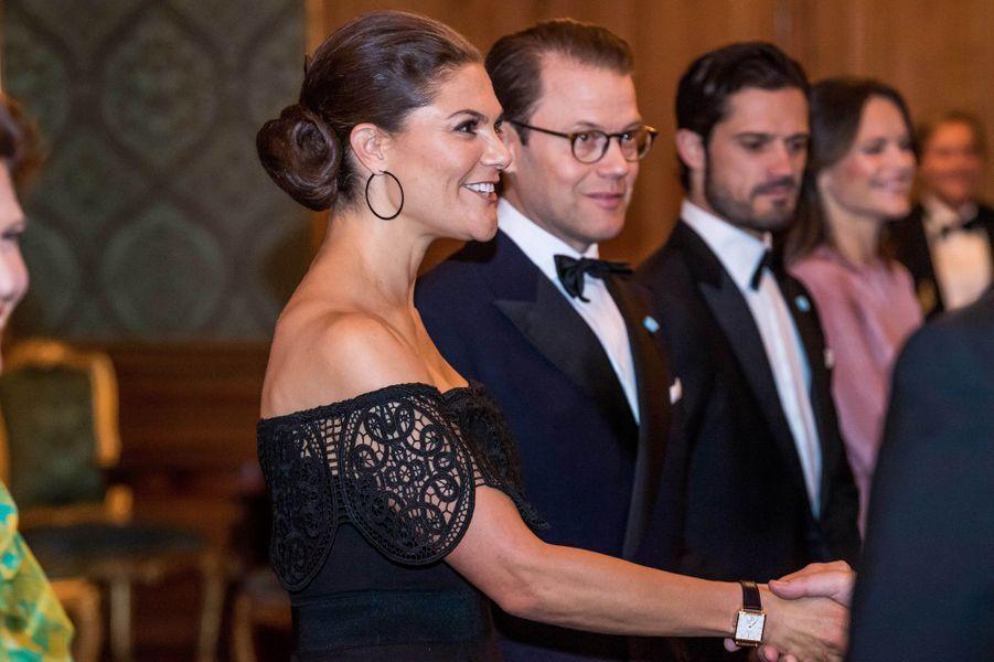 Les princesses Victoria et Sofia et les princes Daniel et Carl Philip de Suède à Stockholm, le 14 septembre 2018