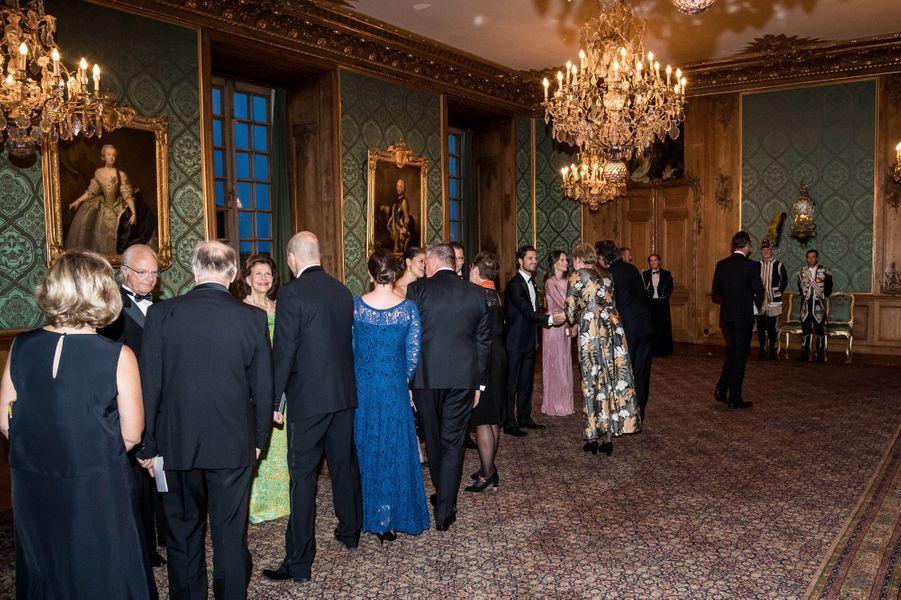 La famille royale de Suède à Stockholm, le 14 septembre 2018
