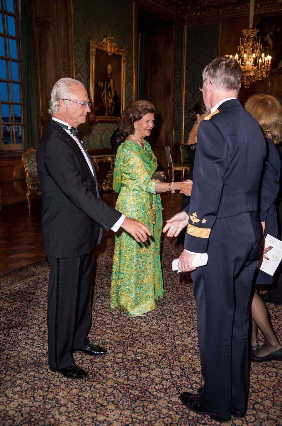 Le roi Carl XVI Gustaf et la reine Silvia de Suède à Stockholm, le 14 septembre 2018