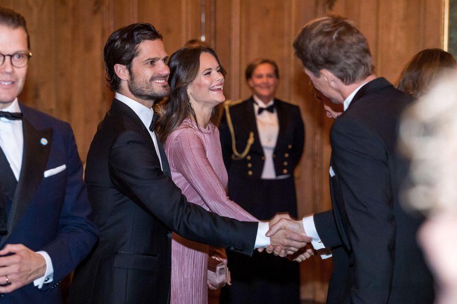 La princesse Sofia et les princes Daniel et Carl Philip de Suède à Stockholm, le 14 septembre 2018