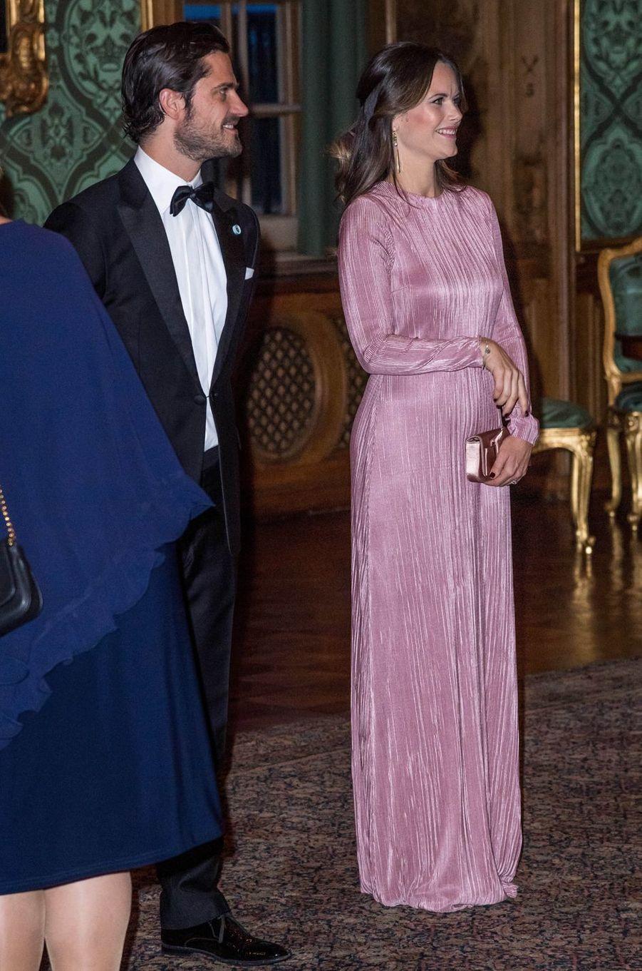 Le prince Carl Philip et la princesse Sofia de Suède à Stockholm, le 14 septembre 2018