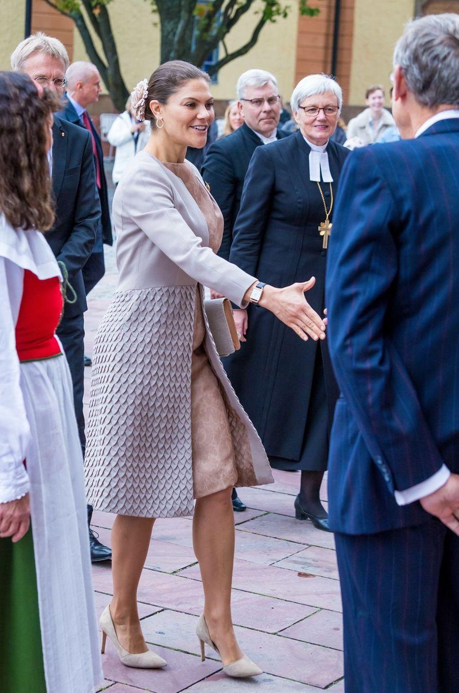 La princesse Victoria de Suède en Fadi el Khoury à Uppsala, le 2 octobre 2018
