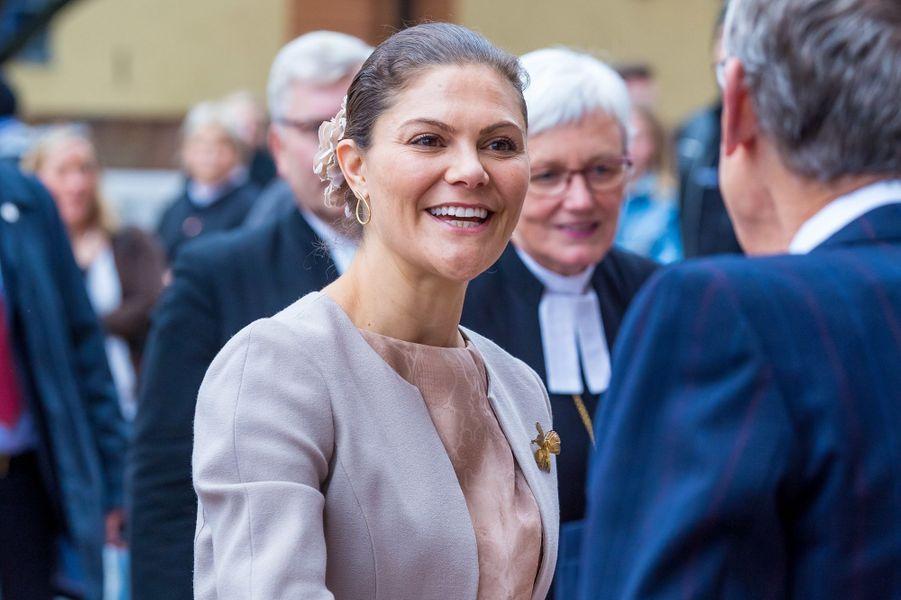 La princesse héritière Victoria de Suède à Uppsala, le 2 octobre 2018