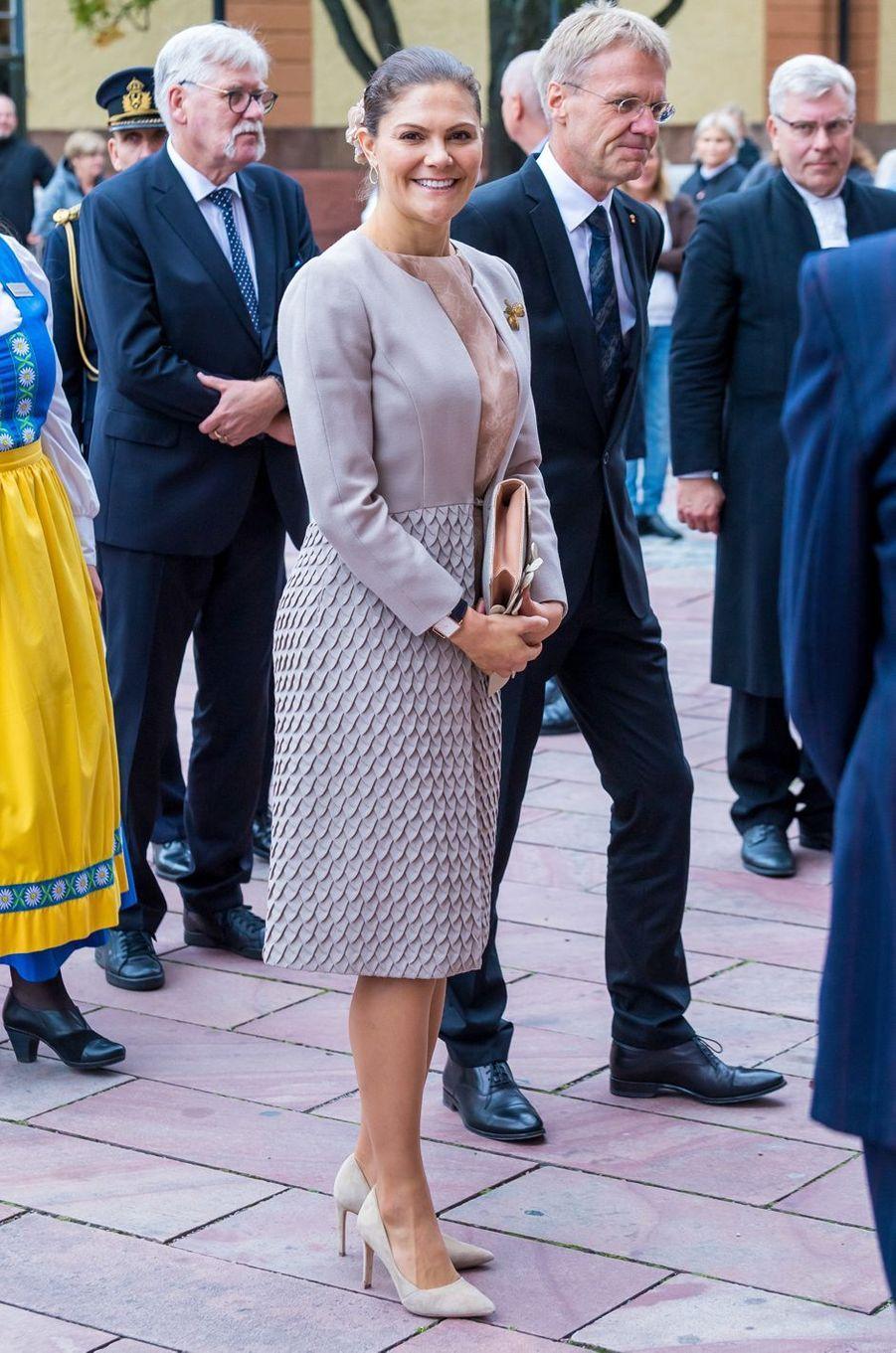 La princesse Victoria de Suède à Uppsala, le 2 octobre 2018