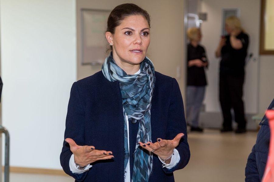 La princesse héritière Victoria de Suède à Ronneby, le 13 avril 2018