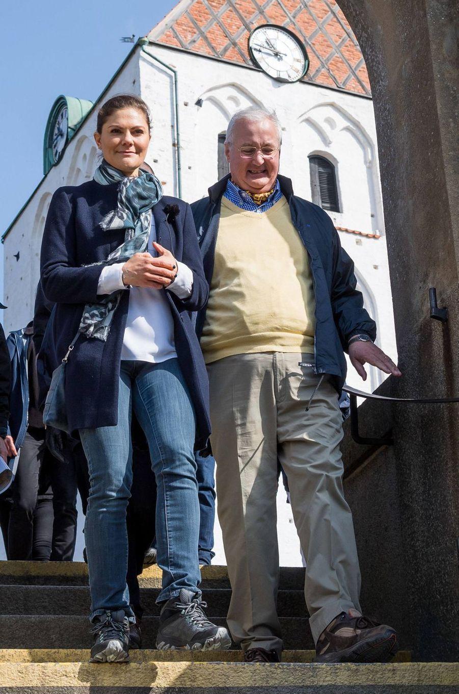 La princesse Victoria de Suède à Ronneby, le 13 avril 2018