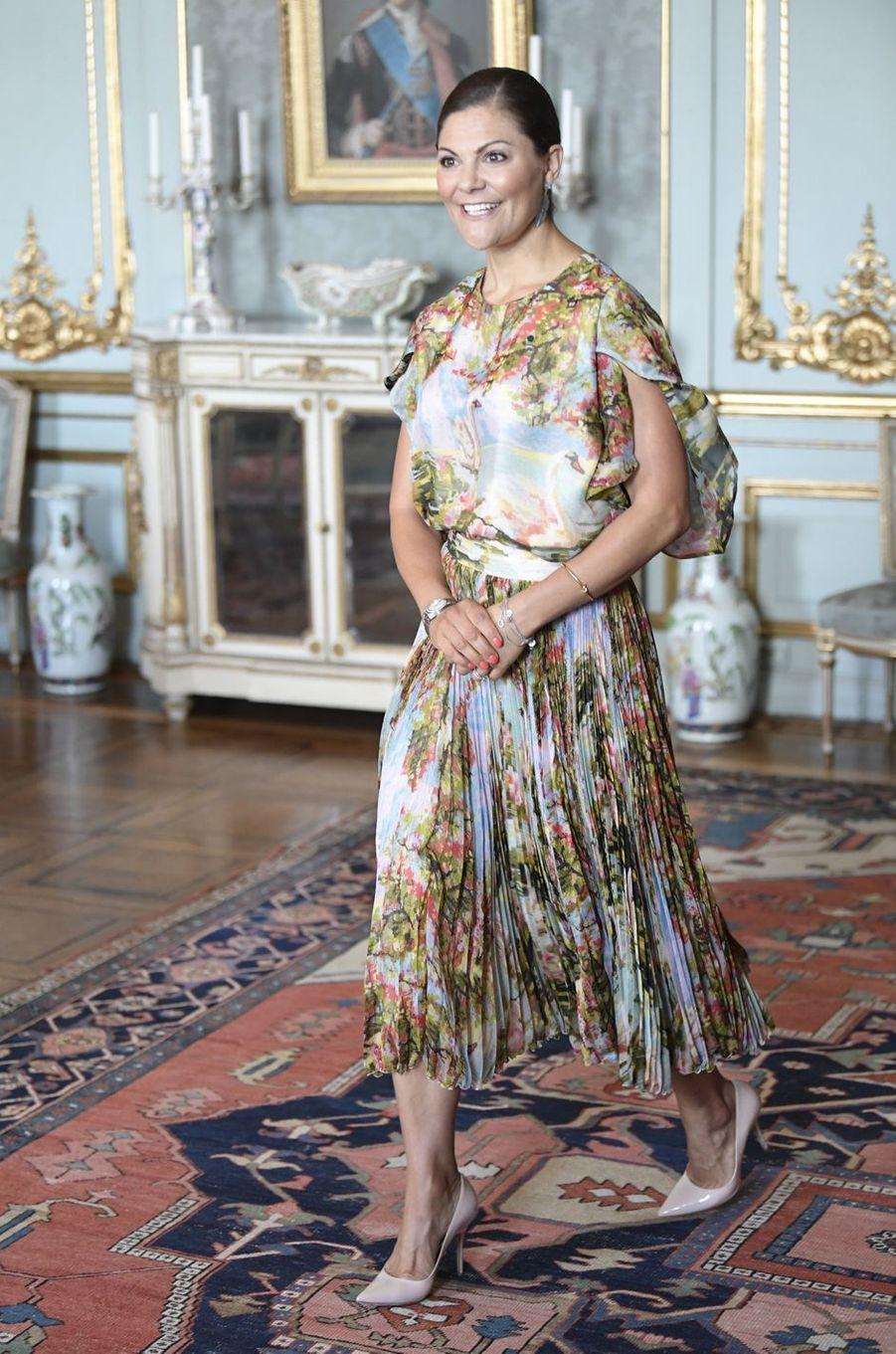 La princesse Victoria de Suède au Palais royal à Stockholm, le 24 août 2017