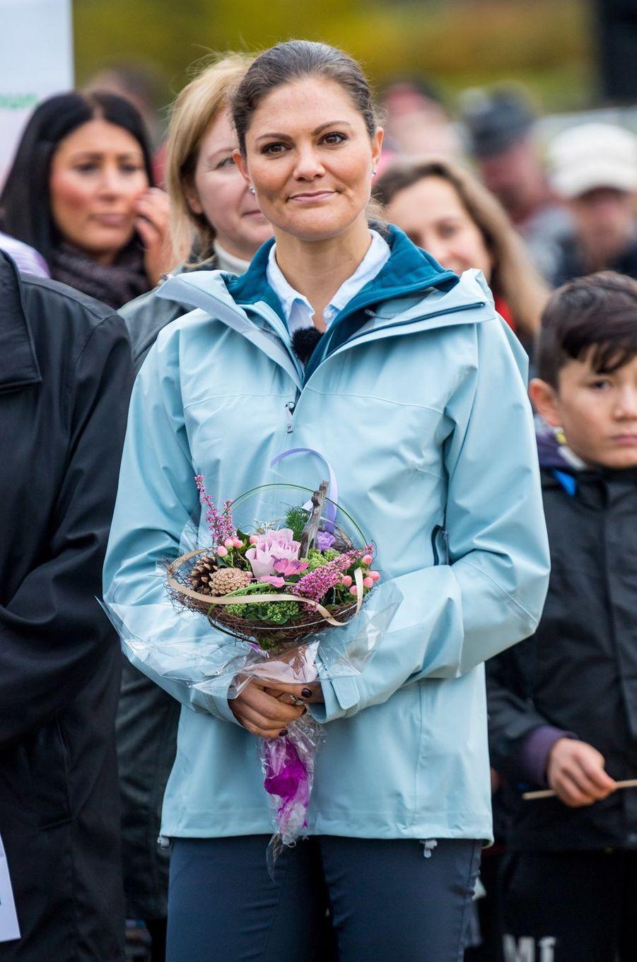 La princesse Victoria de Suède dans le comté de Västerbotten, le 6 octobre 2017